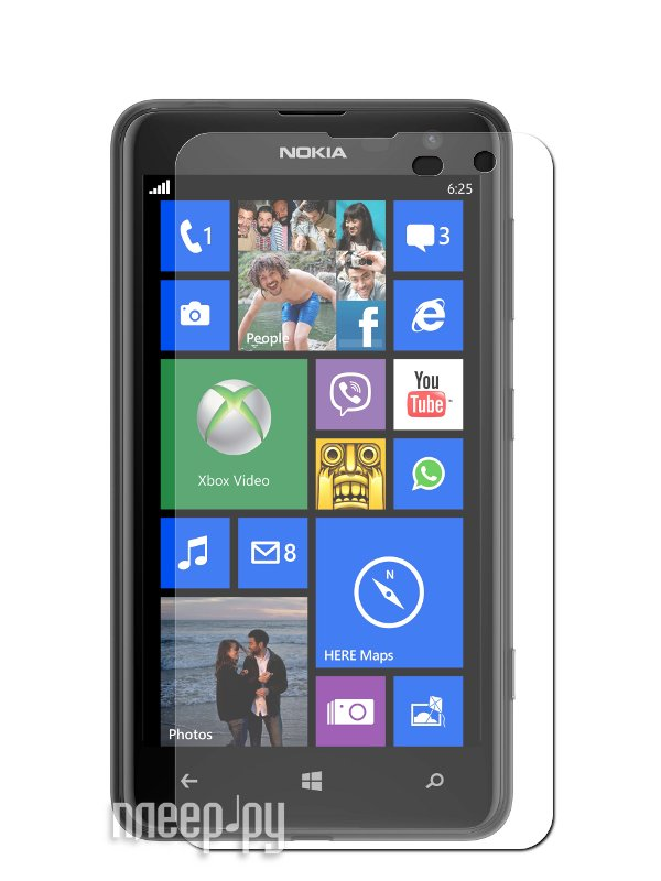 Аксессуар Защитная пленка Nokia Lumia 625 LuxCase суперпрозрачная 80447  Pleer.ru  555.000