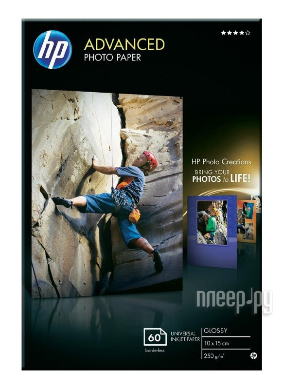 Фотобумага HP Advanced Glossy Photo Paper Q8008A  Pleer.ru  518.000