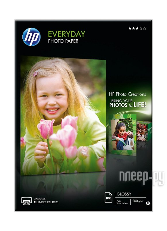 Фотобумага HP Everyday Glossy Photo Paper Q2510A  Pleer.ru  709.000