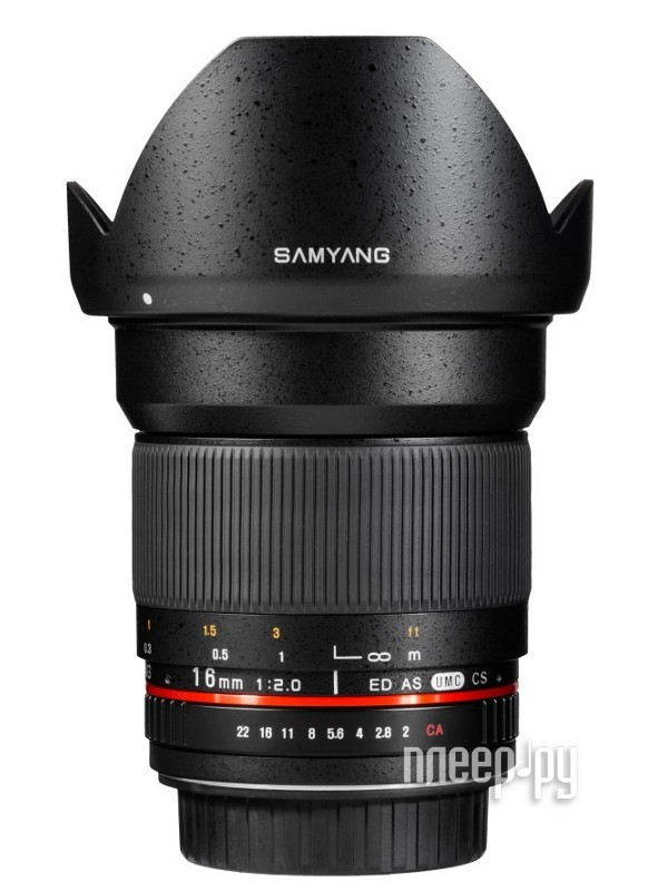 Объектив Samyang Canon EF-M 16 mm F/2.0 ED AS UMS CS  Pleer.ru  13685.000