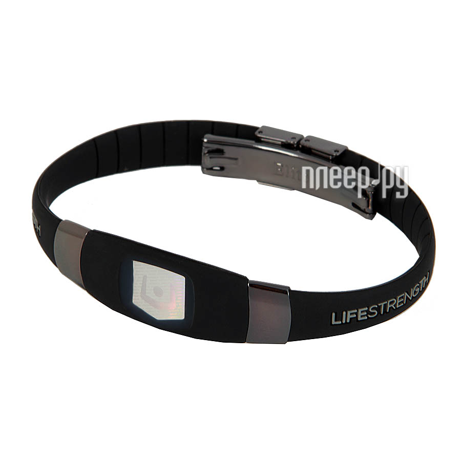 Браслет Lifestrength Elite 1S Black Silver Anodized  Pleer.ru  1722.000