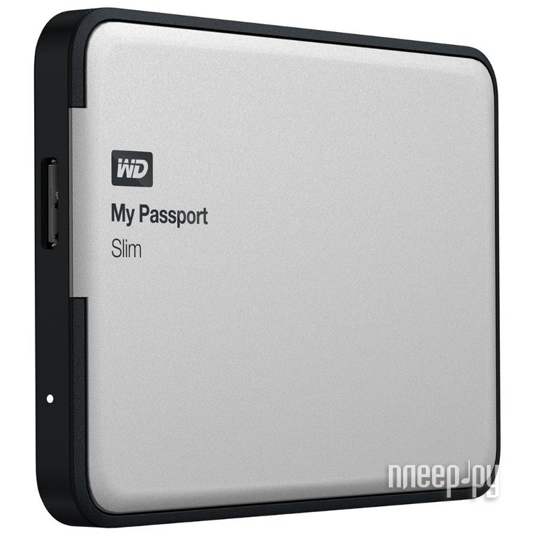 Жесткий диск Western Digital My Passport Slim 1Tb WDBGMT0010BAL  Pleer.ru  3247.000