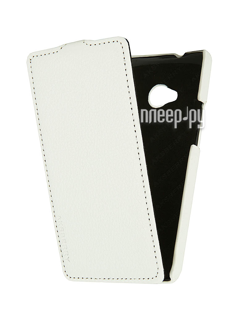 Аксессуар Чехол HTC One Dual Sim Aksberry White  Pleer.ru  1129.000