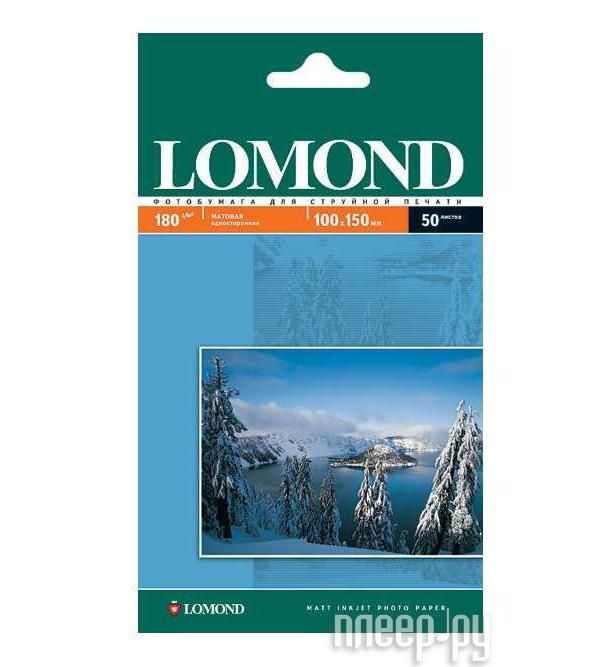 Фотобумага Lomond 0102034 матовая 230g/m2, 100x150mm, одностороняя  Pleer.ru  247.000