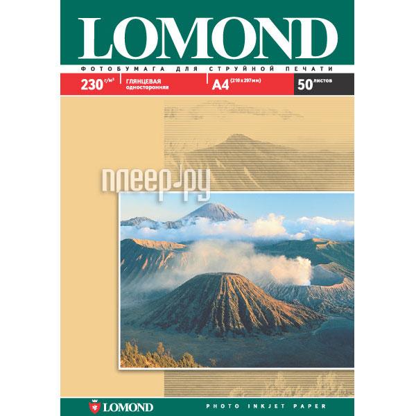 Фотобумага Lomond 0102022 глянцевая 230g/m2, A4, одностороняя  Pleer.ru  455.000