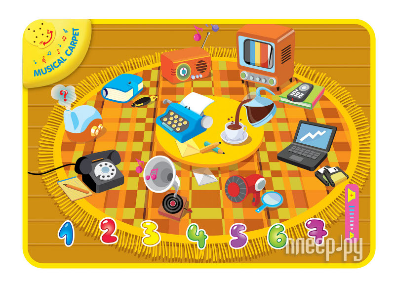 Развивающий коврик Yongjia Изучи предметы 889-355  Pleer.ru  330.000