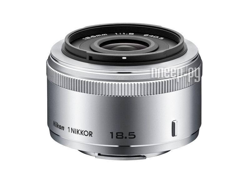 Объектив Nikon Nikkor 18.5 mm F/1.8 for Nikon 1 Silver  Pleer.ru  5551.000