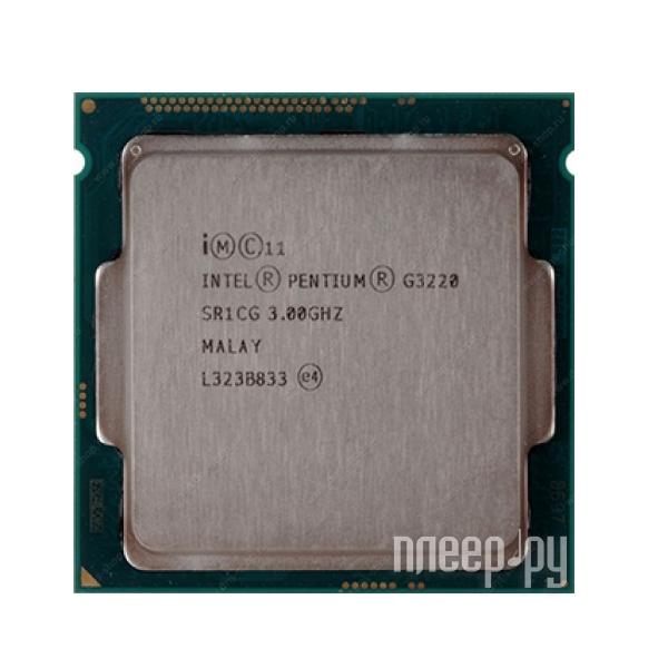 Процессор Intel Pentium G3220 Haswell (3000MHz/LGA1150/L3 3072Kb)  Pleer.ru  2454.000