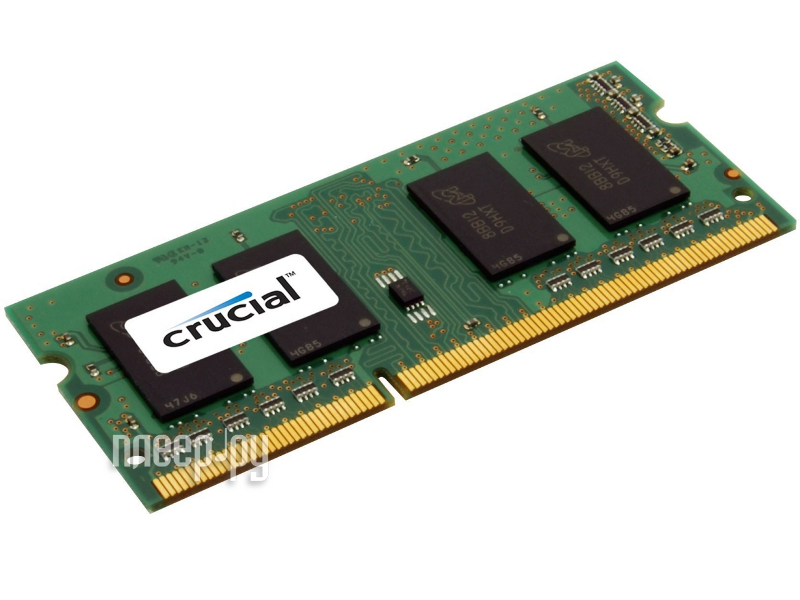 Модуль памяти Crucial DDR3L SO-DIMM 1600MHz PC3-12800 CL11 - 2Gb CT25664BF160B
