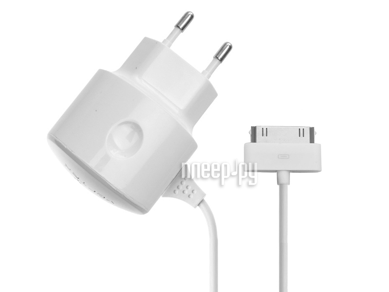 Аксессуар Vertex Slim Line 1000-1200 mA for iPhone / iPod сетевое White  Pleer.ru  635.000