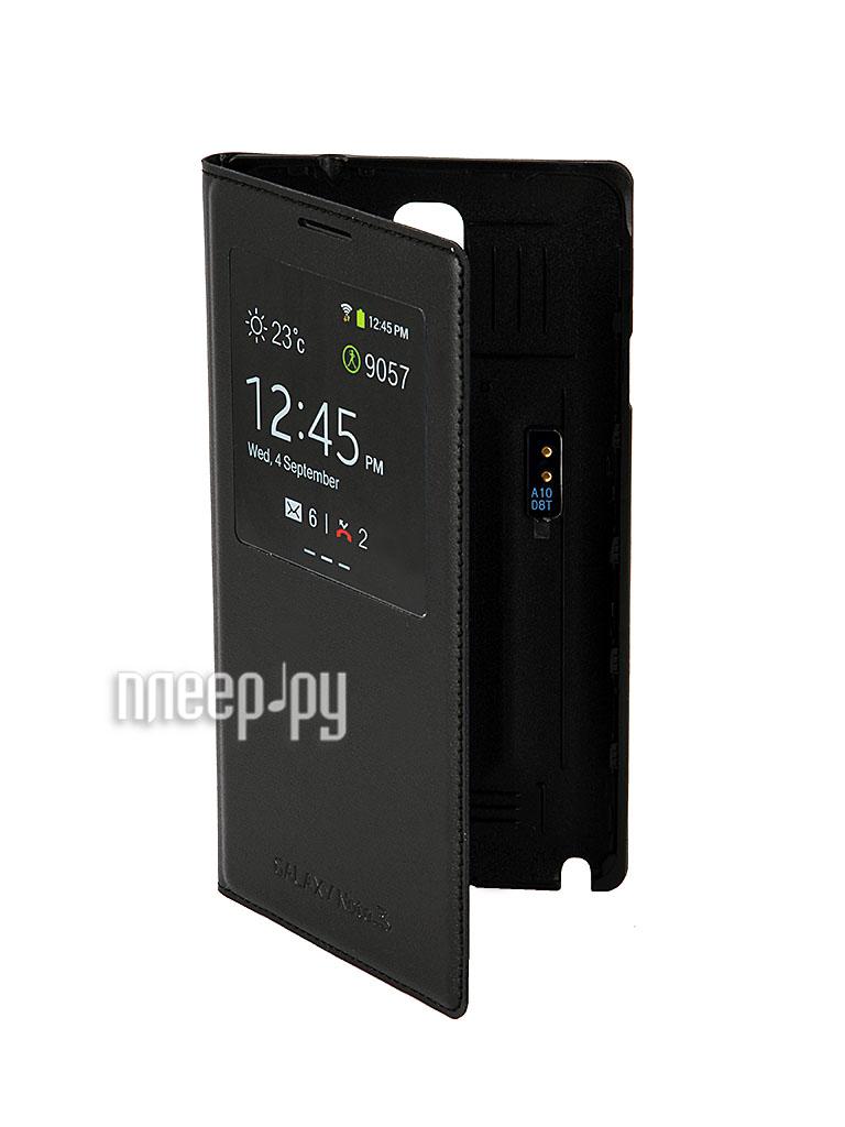 Аксессуар Чехол Samsung GT-N9000 Galaxy Note III S-View EF-CN900BBEGRU Black  Pleer.ru  2206.000