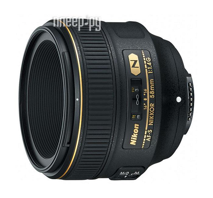 Объектив Nikon 58mm f/1.4G AF-S NIK  Pleer.ru  59802.000
