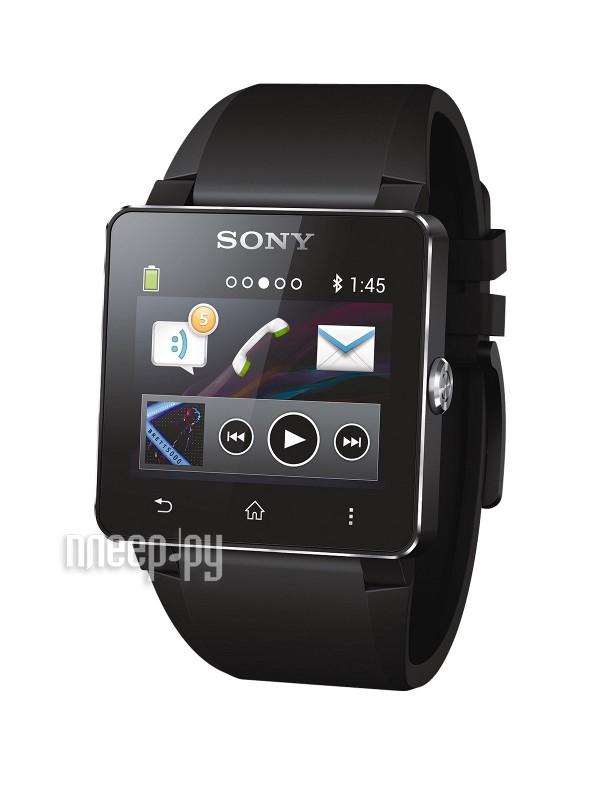 Умные часы Sony SmartWatch 2 SW2 Silicone Strap Black 1276-8078  Pleer.ru  5448.000