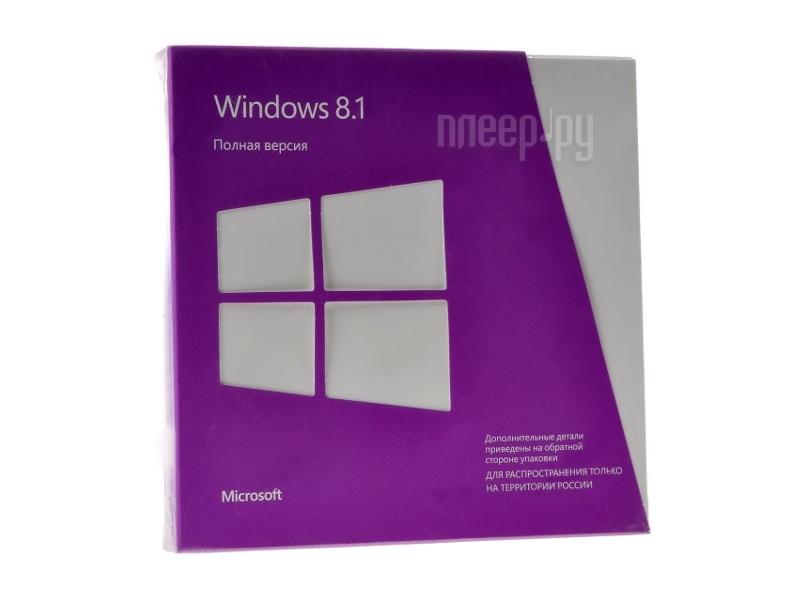 Программное обеспечение Microsoft Windows 8.1 32-bit/64-bit Russian Russia Only DVD WN7-00937  Pleer.ru  4302.000