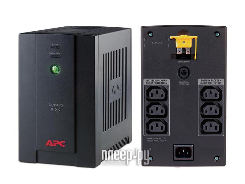 Источник бесперебойного питания APC Back-UPS 800VA 480W BX800CI  Pleer.ru  5100.000
