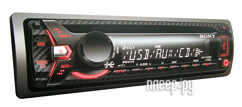 Автомагнитола Sony CDX-G1000U  Pleer.ru  2084.000