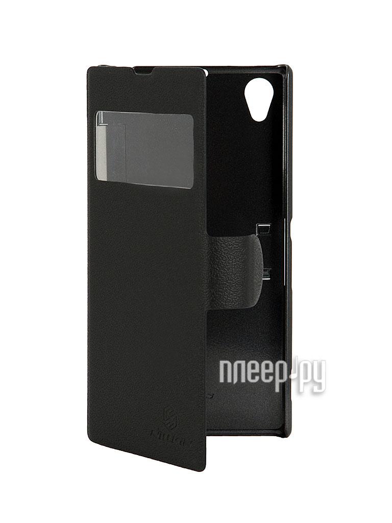 Аксессуар Чехол Sony Xperia Z1 S39h Nillkin Fresh Series Case Black  Pleer.ru  1089.000