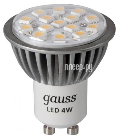 Лампочка Gauss LED 4W GU10 220V 4100K FROST EB101506204  Pleer.ru  227.000