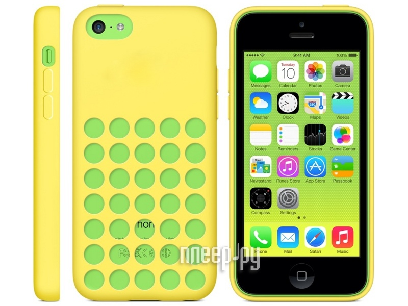 Аксессуар Чехол APPLE iPhone 5C Case Yellow MF038  Pleer.ru  1820.000