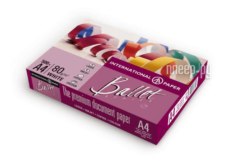 Бумага Светогорск Ballet Premier A4 80г/м2 500 листов 161CIE  Pleer.ru  368.000