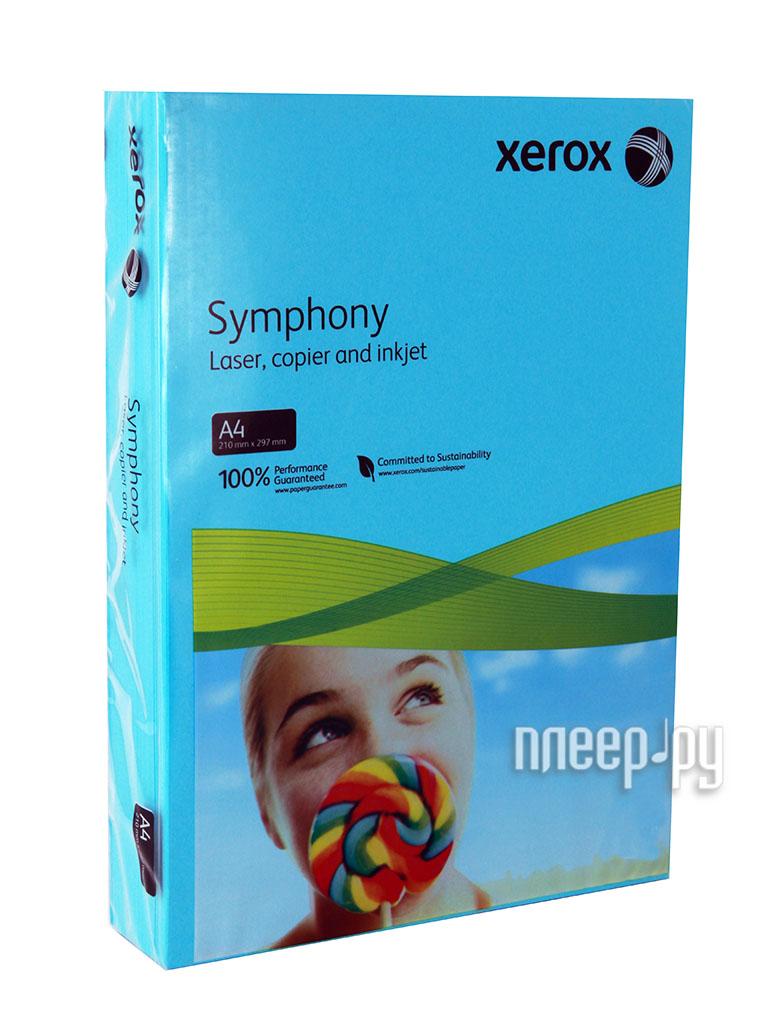 Бумага XEROX Symphony A4 80г/м2 500 листов Aqua Blue  Pleer.ru  419.000