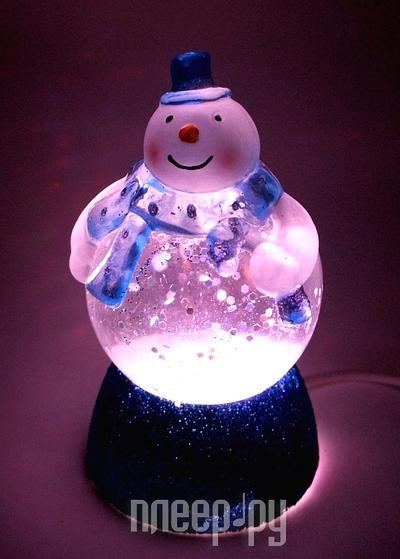 Новогодний сувенир Снеговичок-толстячок Orient NY6010 Blue