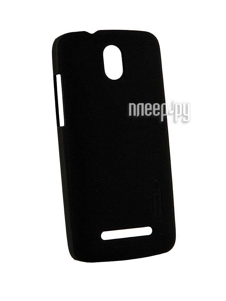 Аксессуар Чехол-накладка HTC Desire 500 Nillkin Super Frosted Shield Black  Pleer.ru  348.000