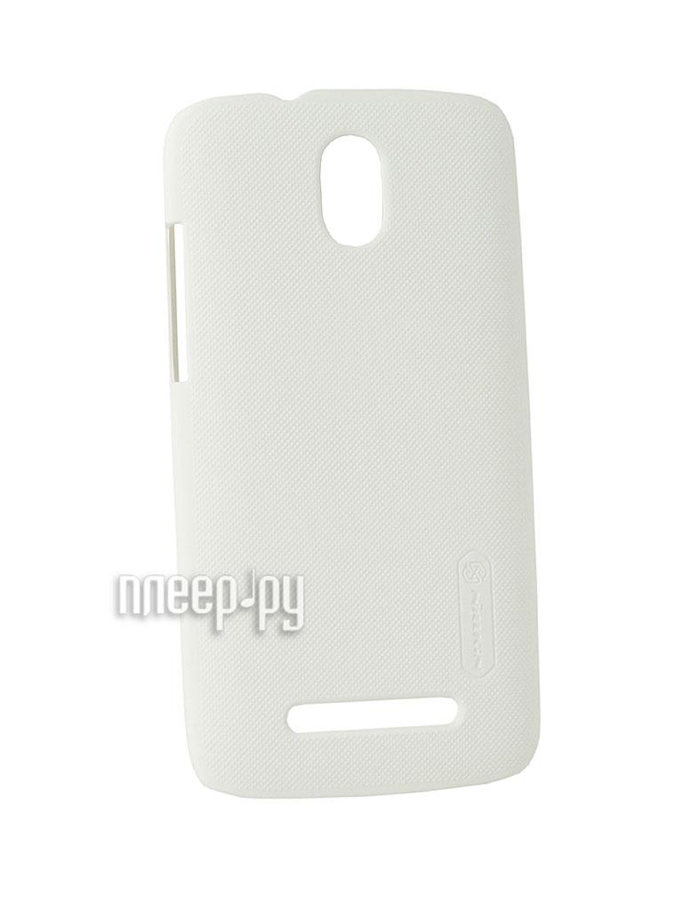 Аксессуар Чехол-накладка HTC Desire 500 Nillkin Super Frosted Shield White  Pleer.ru  348.000