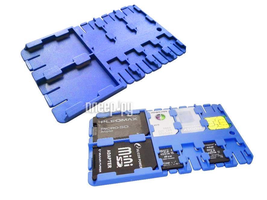 Футляр REFI Holder SD / microSD / SIM Blue  Pleer.ru  159.000