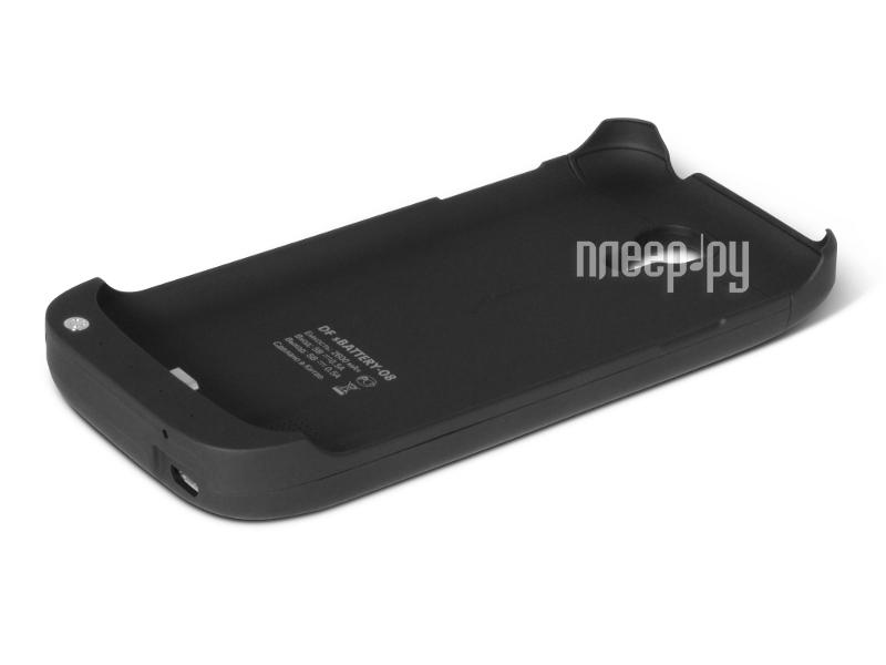 Аксессуар Чехол с аккумулятором Samsung GT-i9190 Galaxy S4 mini DF SBattery-08 2600 mAh Black  Pleer.ru  1400.000