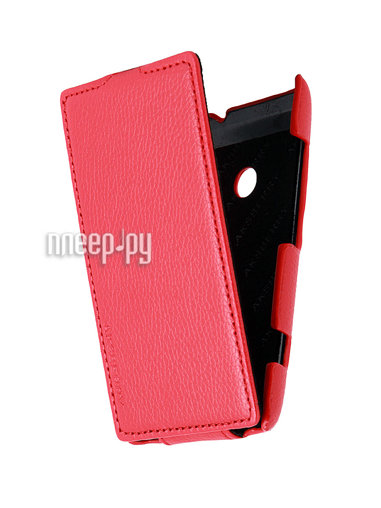Аксессуар Чехол Nokia 520 Lumia Ainy / Aksberry / Clever Case Leather Shell Red  Pleer.ru  996.000