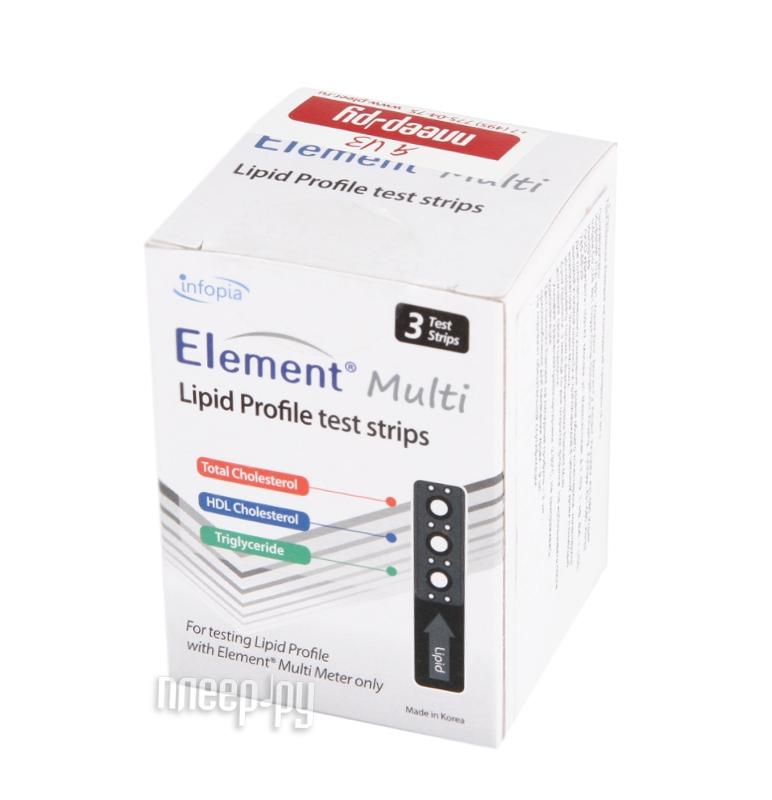 Аксессуар Infopia Element Multi №3 - тест-полоски на липидный профиль  Pleer.ru  998.000