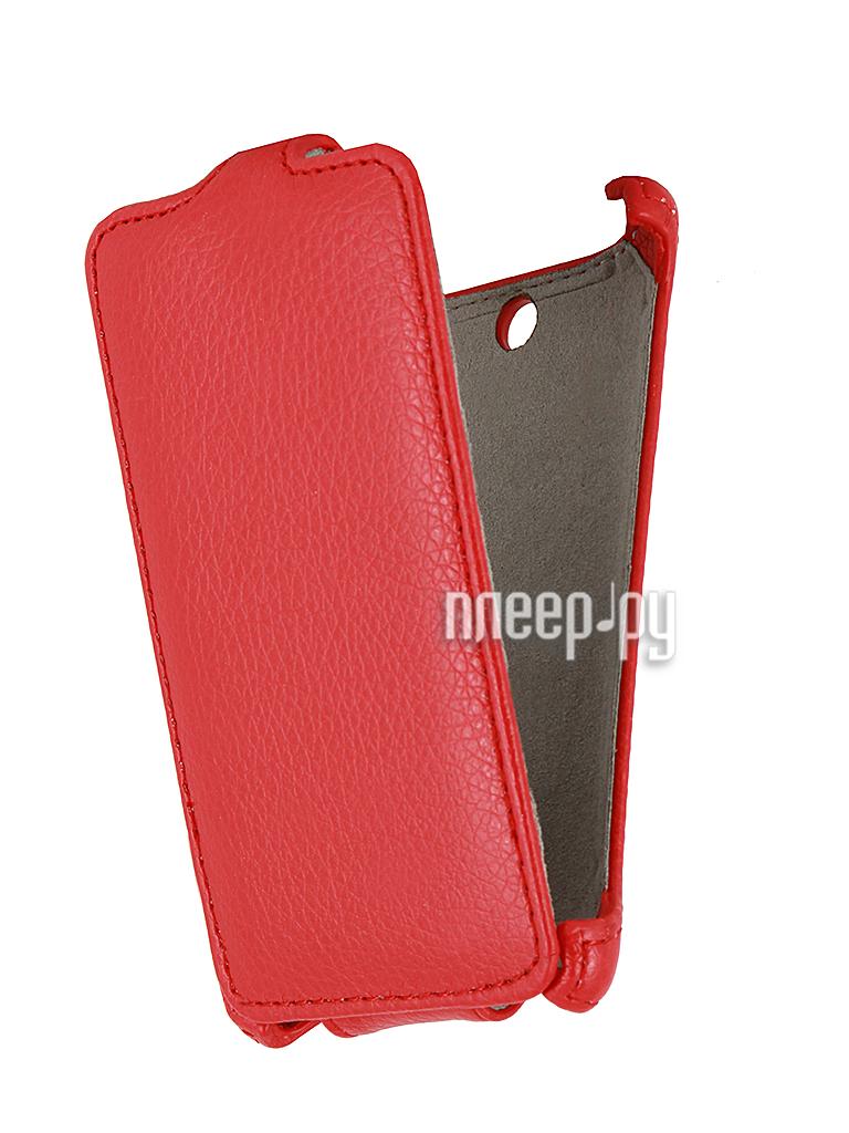 Аксессуар Чехол Sony C1505 Xperia E / C1605 Xperia E Dual Aksberry / Gecko Red  Pleer.ru  1060.000
