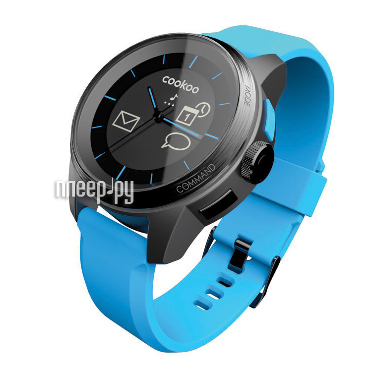 Умные часы Cookoo Watch Black-Blue  Pleer.ru  3130.000