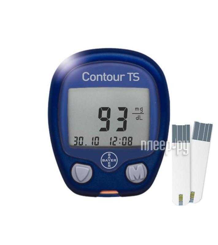 Глюкометр Bayer Contour TS + 50x2 тест-полосок  Pleer.ru  1358.000