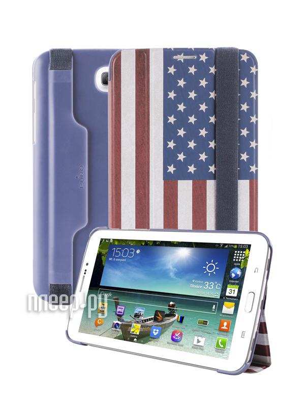 Аксессуар Чехол Samsung Galaxy Tab 3-7.0 PURO Zeta Slim USA Flag GTAB37ZETASUSA  Pleer.ru  950.000