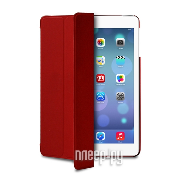 Аксессуар Чехол APPLE iPad Air PURO Zeta Slim w/ Magnet & Stand up Red IPAD5ZETASRED  Pleer.ru  1777.000