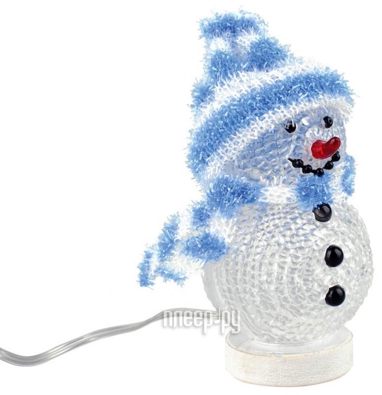 Новогодний сувенир Снеговик с полосатой шапочкой и шарфом Союзмультфлэш  Pleer.ru  319.000