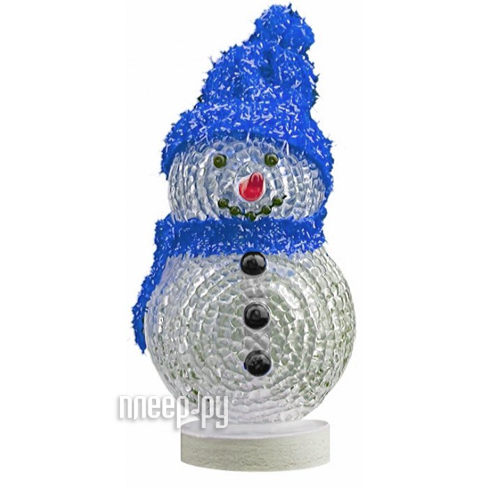 Новогодний сувенир Снеговик с синей шапочкой и шарфом Союзмультфлэш  Pleer.ru  319.000