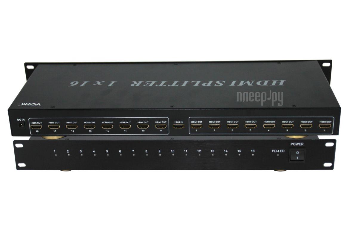 Аксессуар VCOM HDMI Splitter 1x16 3D Full-HD ver1.4 каскадируемый DD4116