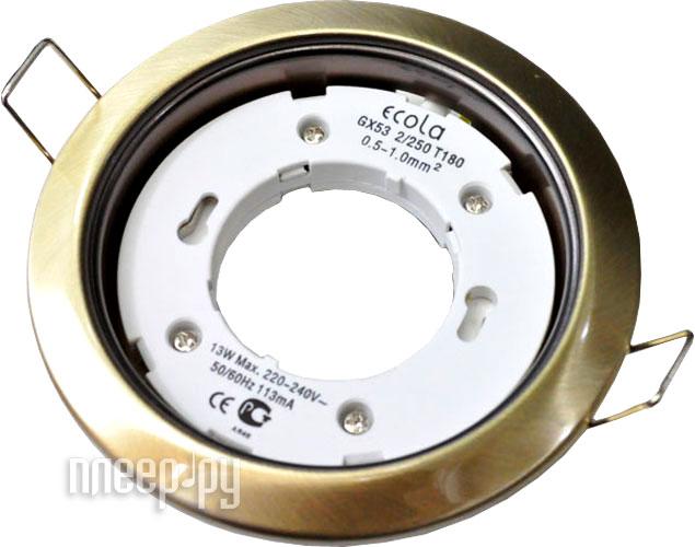 Светильник Ecola GX53 H4 220V черненая бронза FN53H4ECB  Pleer.ru  95.000