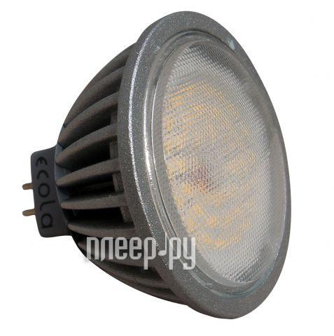 Лампочка Ecola MR16 LED GU5.3 4.2W 220V 2800K прозрачное стекло M2TW42ELC