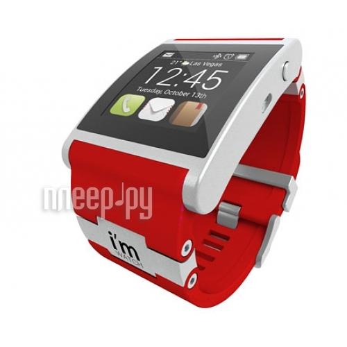 Умные часы I-m Watch Color Red  Pleer.ru  9485.000