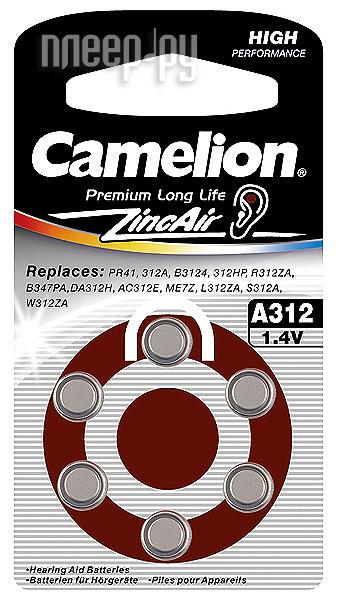 Аксессуар Camelion ZA312 BL-6 / A312-BP6 1.4V 170mAh  Pleer.ru  62.000