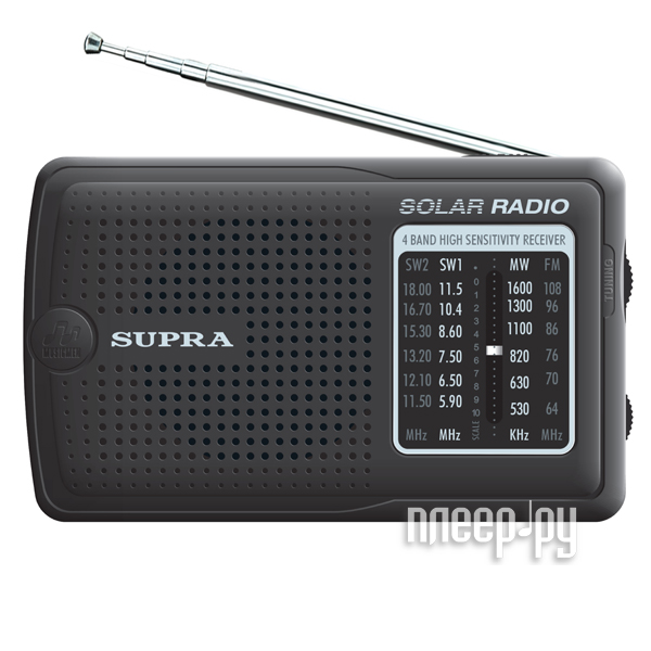 Радиоприемники Supra ST-126 черный