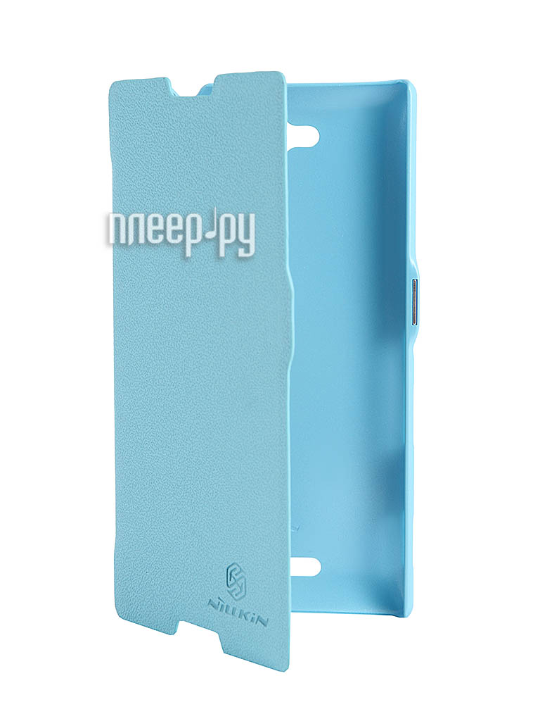Аксессуар Чехол Sony S39h Xperia C Nillkin Fresh Series Leather Case Blue  Pleer.ru  1199.000