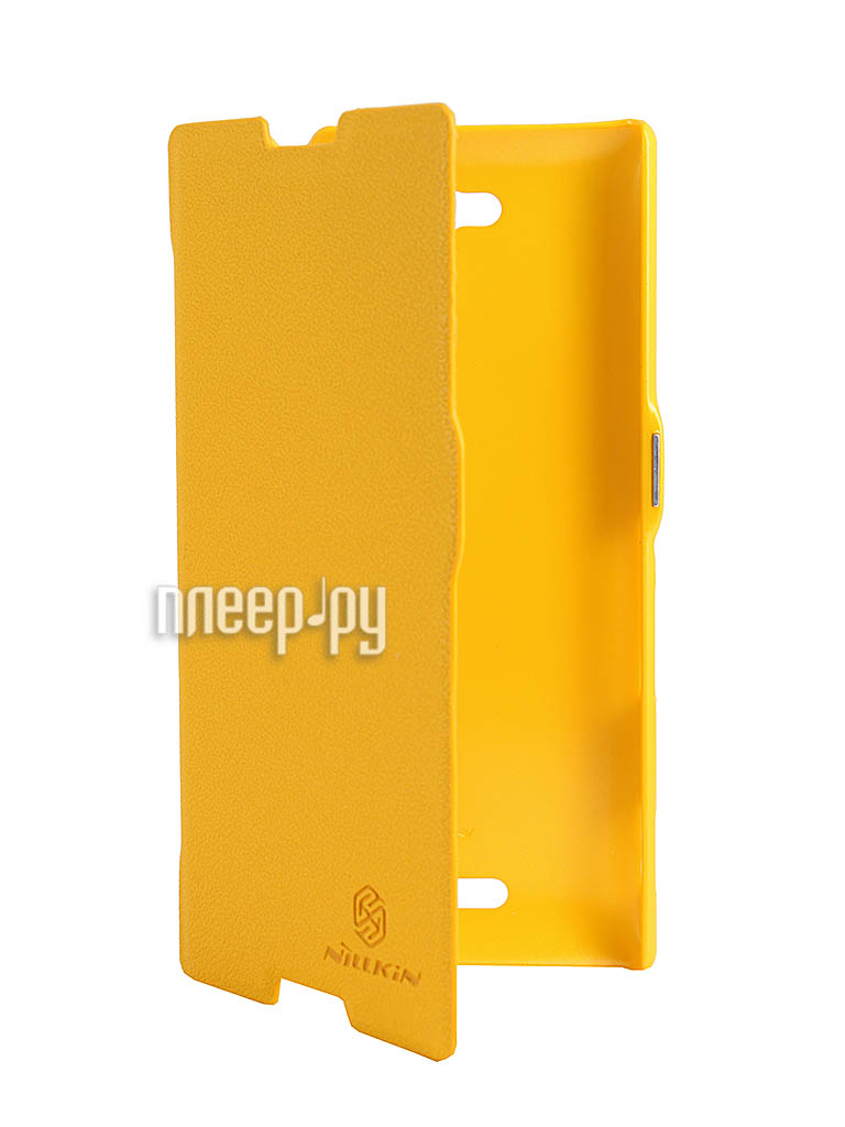 Аксессуар Чехол Sony S39h Xperia C Nillkin Fresh Series Leather Case Yellow  Pleer.ru  1199.000
