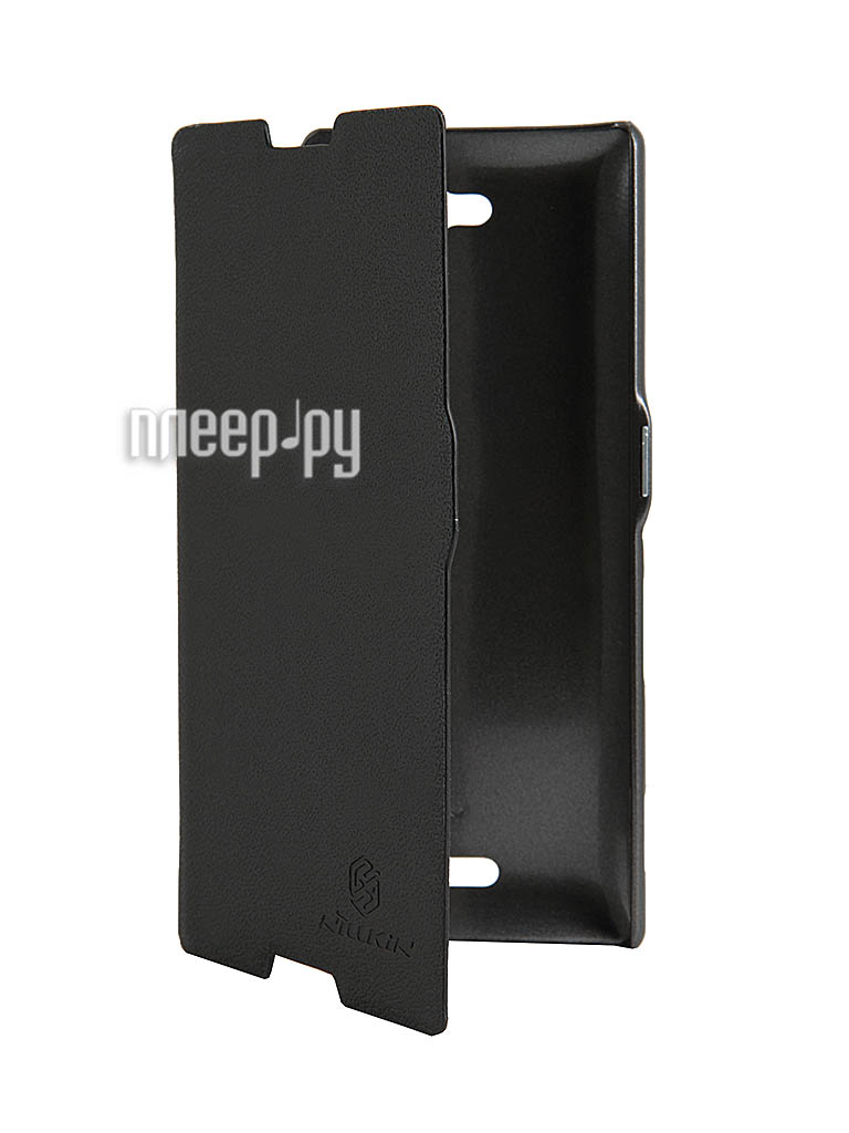 Аксессуар Чехол Sony S39h Xperia C Nillkin Fresh Series Leather Case Black  Pleer.ru  398.000