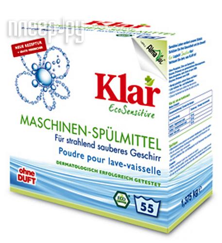 Средство KLAR порошок для посудомоечных машин гипоаллергенный ЭКО 1.375kg
