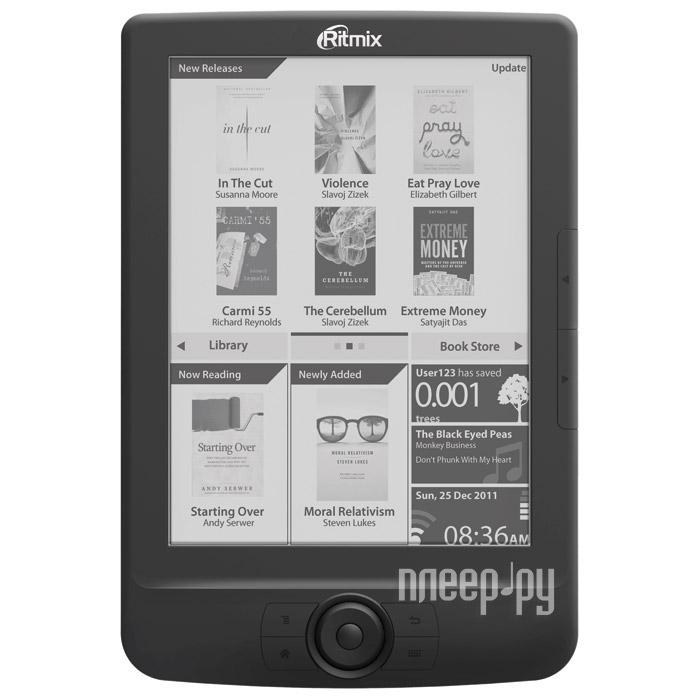Электронная книга Ritmix RBK-680FL Black  Pleer.ru  3650.000
